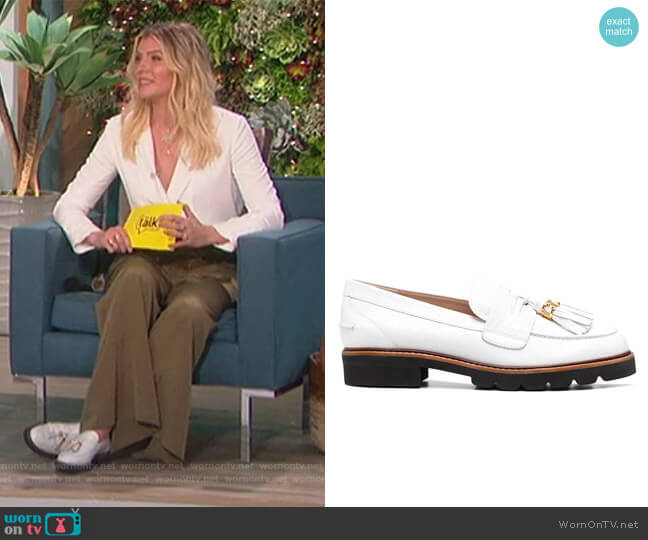 Signature tassel detail loafers by Stuart Weitzman worn by Amanda Kloots  on The Talk