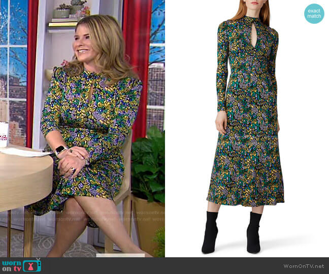 Leopard Print Andrea Dress by Tanya Taylor worn by Jenna Bush Hager  on Today