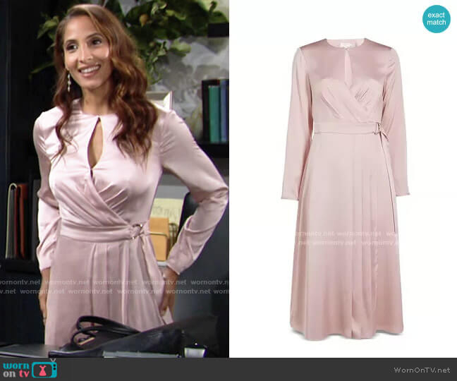 Ted Baker Neenha Dress worn by Lily Winters (Christel Khalil) on The Young & the Restless