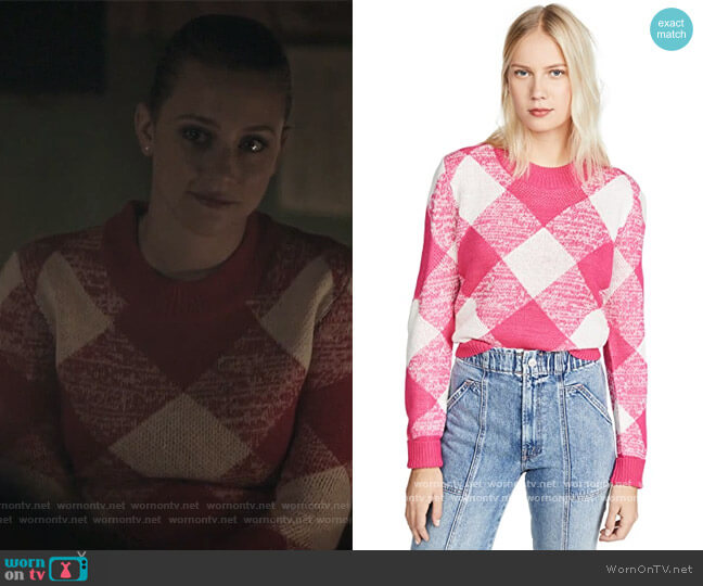 Angle Knit Sweater by The Fifth Label worn by Betty Cooper (Lili Reinhart) on Riverdale