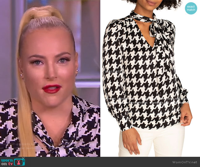 Demming Houndstooth Top by Trina Turk worn by Meghan McCain  on The View