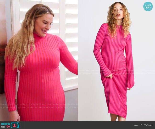 Two Tone Knit Dress by Zara worn by Heather Gay  on The Real Housewives of Salt Lake City