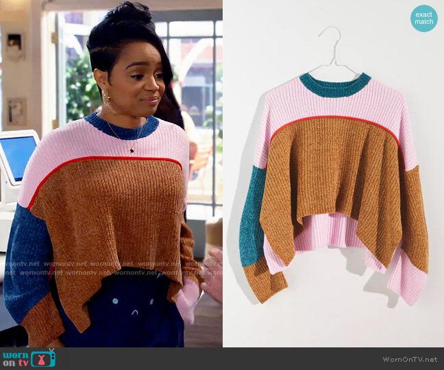 UO Fife Pullover Sweater worn by Randi (Kyla Pratt) on Call Me Kat