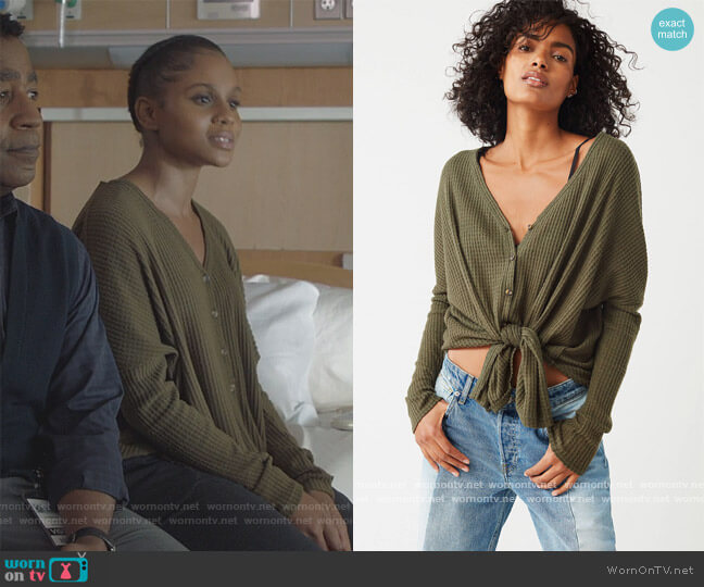 Jojo Thermal Button Front Top by Out From Under at Urban Outfitters