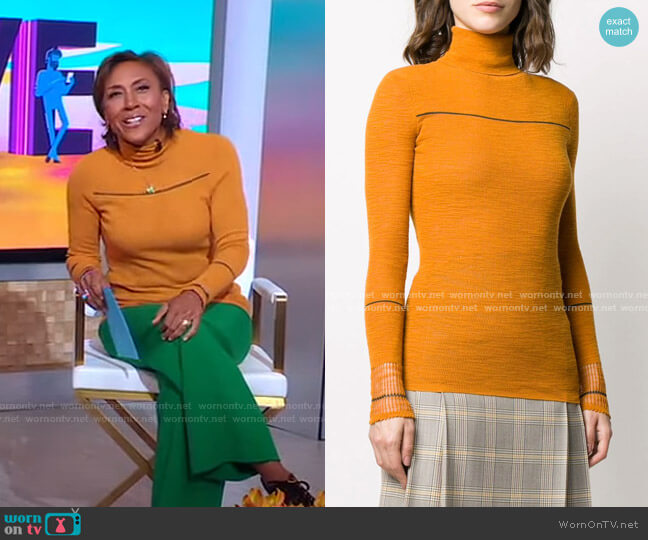 Turtle-Neck Jumper by Victoria Beckham worn by Robin Roberts  on Good Morning America