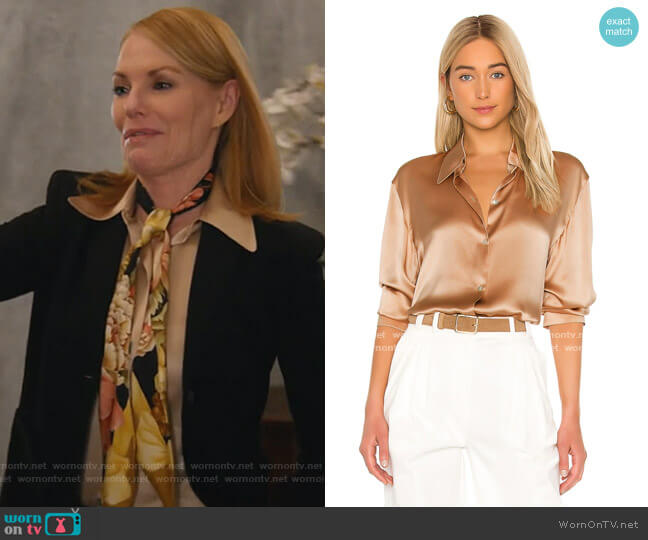 Shaped Collar Blouse by Vince worn by Lisa Benner (Marg Helgenberger) on All Rise