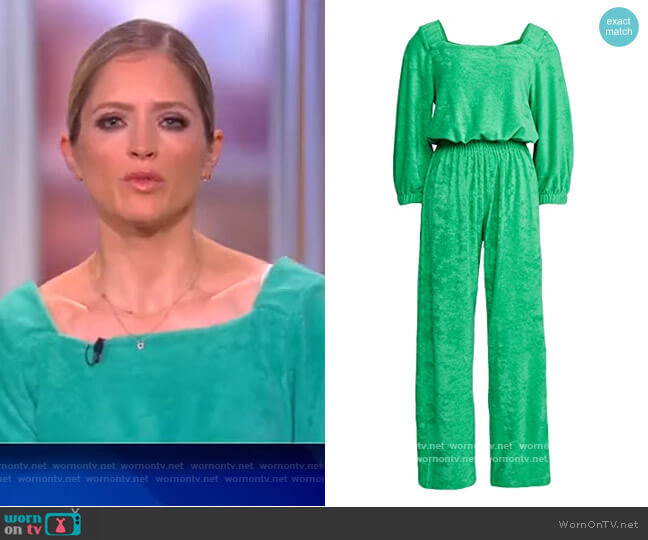 Funsie Jumpsuit by Warm Fun worn by Sara Haines  on The View