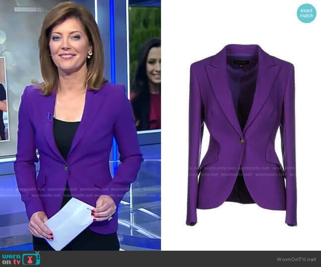Wool Blazer by Escada worn by Norah O'Donnell  on CBS Evening News