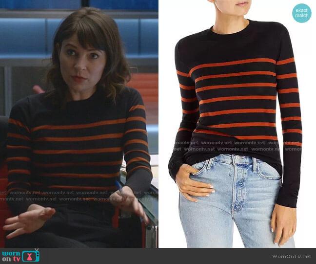 Wool Striped Sweater by Jason Wu worn by Taylor Rentzel (MacKenzie Meehan) on Bull