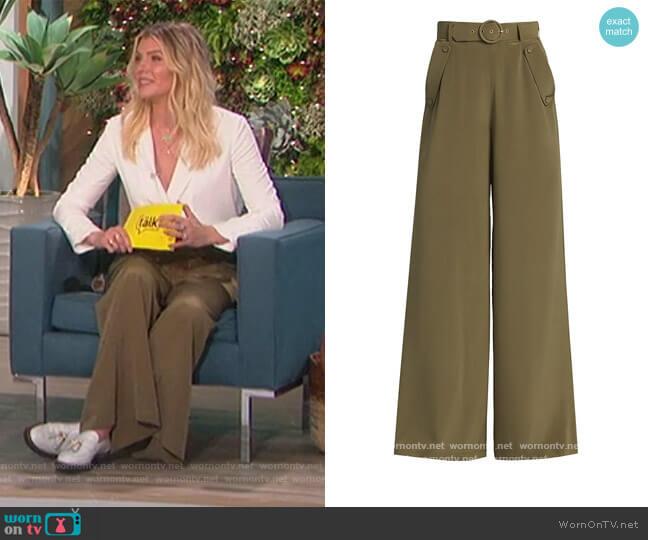 Ladybeetle Silk Wide-Leg Pants by Zimmermann worn by Amanda Kloots  on The Talk