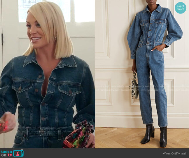 Denim Jumpsuit by Agolde worn by Whitney Rose  on The Real Housewives of Salt Lake City