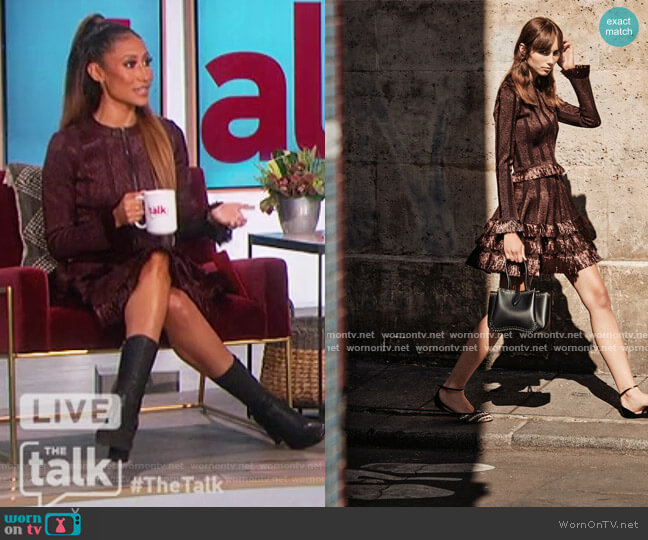 2021 Spring Summer Collection by Alaia worn by Elaine Welteroth  on The Talk
