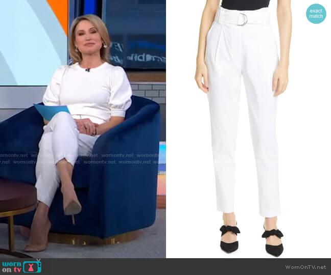 Diego Belted Linen Blend Trousers by A.L.C. worn by Amy Robach  on Good Morning America