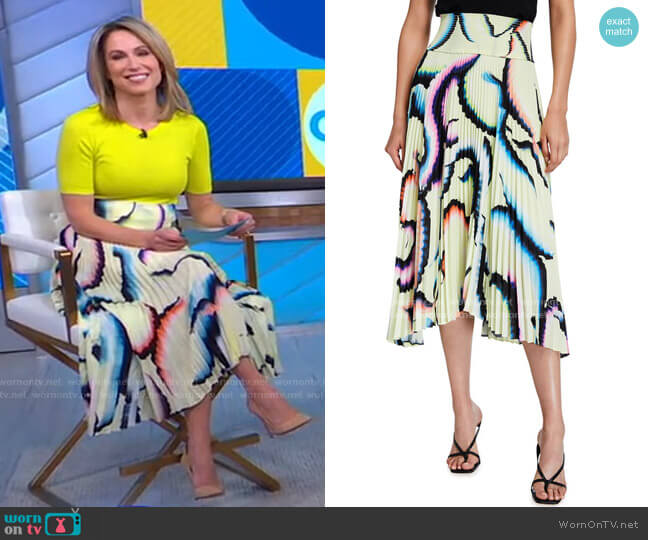 Sonali Skirt by A.L.C. worn by Amy Robach  on Good Morning America