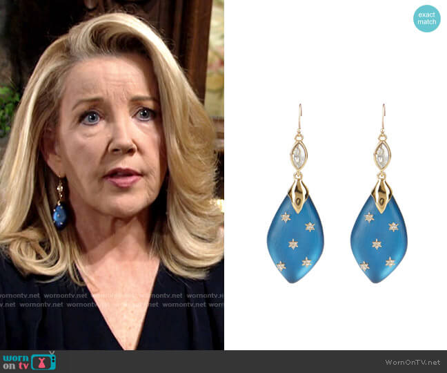 Alexis Bittar Asteria Nova Spike Stud Drop Earrings worn by Nikki Reed Newman (Melody Thomas-Scott) on The Young & the Restless