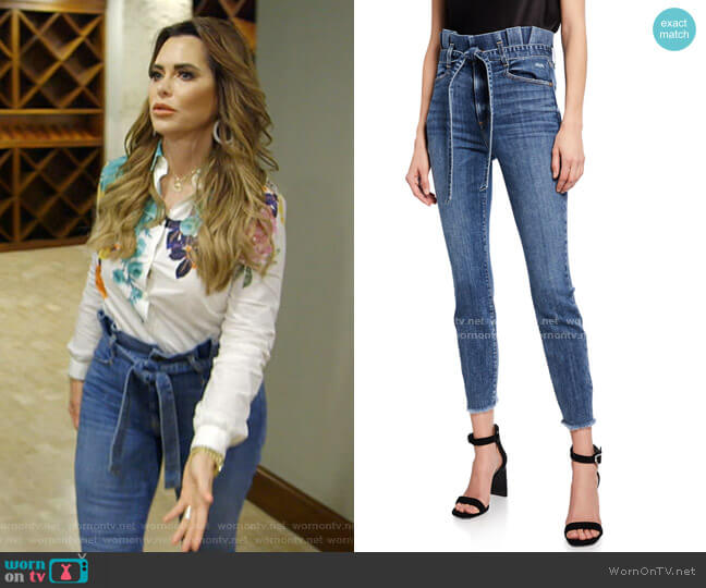 Good Paperbag Waist Skinny Jeans by Alice + Olivia worn by D'Andra Simmons  on The Real Housewives of Dallas