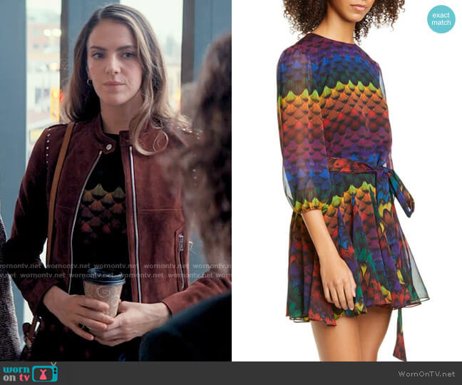 Alice + Olivia Mina Dress worn by Delia Whitelaw (Tory Trowbridge) on Tiny Pretty Things