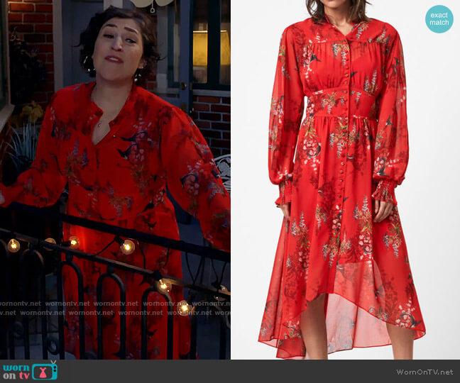 All Saints Leonie Melisma Dress worn by Carter (Julian Gant) on Call Me Kat