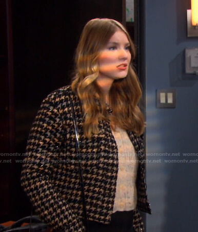 Allie's houndstooth jacket on Days of our Lives
