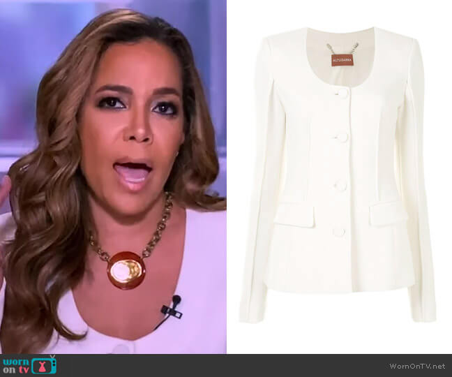 Tamaar plunging-neck blazer by Altuzarra worn by Sunny Hostin  on The View