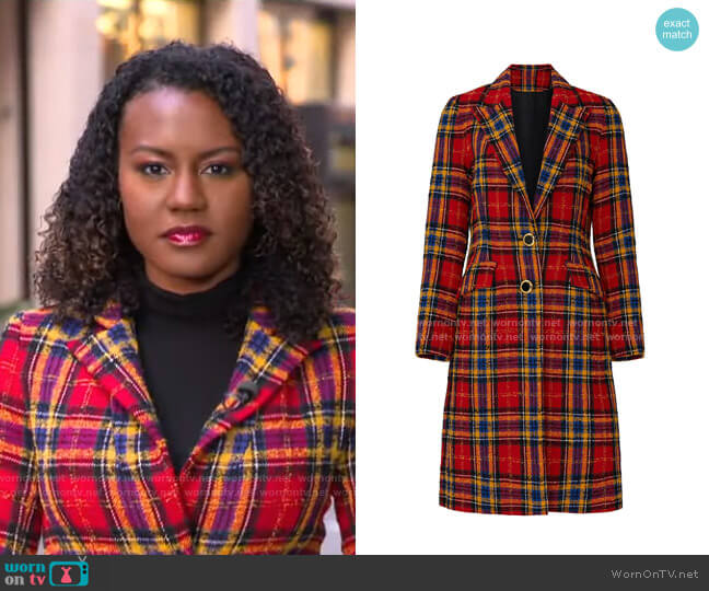 Vail Coat by Amanda Uprichard worn by Janai Norman  on Good Morning America