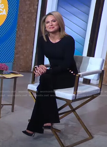 Amy's black top and button pants on Good Morning America