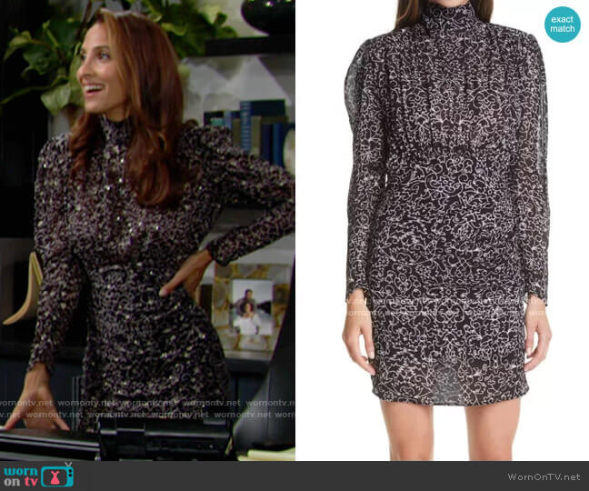 ba&sh Acia Dress worn by Lily Winters (Christel Khalil) on The Young & the Restless