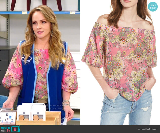 Tune In Off the Shoulder Top by Bailey 44 worn by Kelly Stables on Superstore