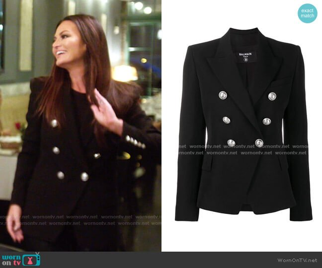 Double Breasted Blazer by Balmain worn by Lisa Barlow  on The Real Housewives of Salt Lake City