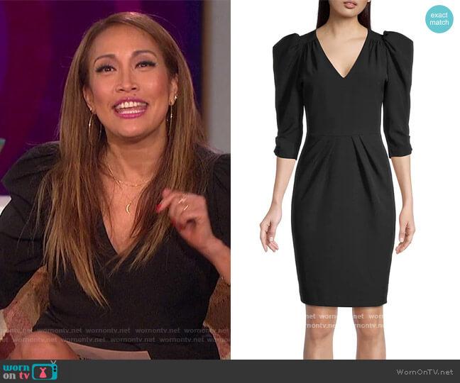 Livia Puff-Sleeve Sheath Dress worn by Carrie Inaba  on The Talk