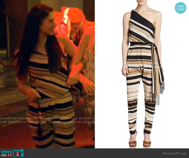 Calypso St Barth Andie Jumpsuit worn by June Park (Daniela Norman) on Tiny Pretty Things