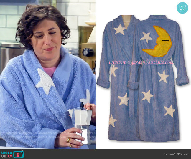 Canyon Group Moon and Stars Robe worn by Kat Silver (Mayim Bialik) on Call Me Kat