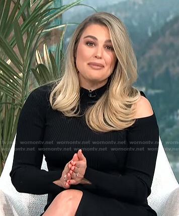 Carissa's black ribbed cutout dress on E! News Daily Pop