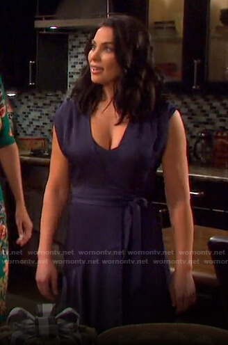 Chloe's purple wrap dress on Days of our Lives