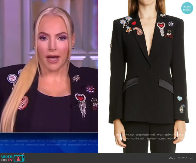 Love Cheyenne Bejeweled Blazer by Cinq a Sept worn by Meghan McCain  on The View