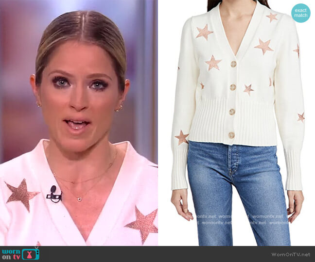 Morgan Cardigan by Cinq a Sept worn by Sara Haines  on The View