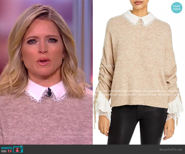 Atlas Layered Look Sweater by Cinq a Sept worn by Sara Haines  on The View