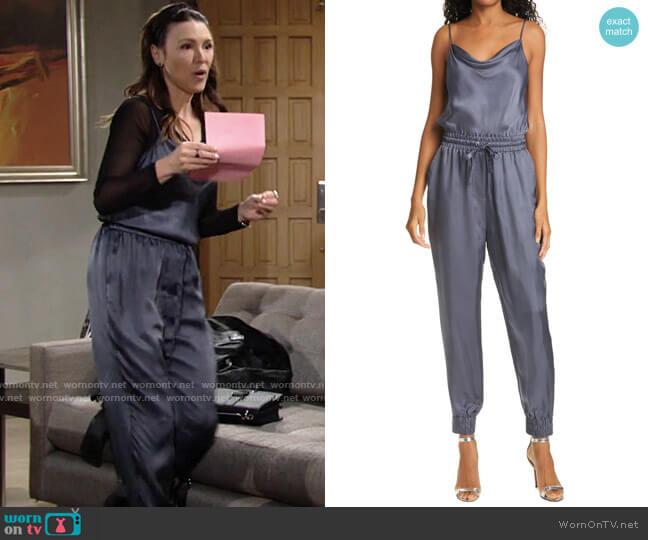 Cinq a Sept Finnley Jumpsuit worn by Chloe Mitchell (Elizabeth Hendrickson) on The Young & the Restless
