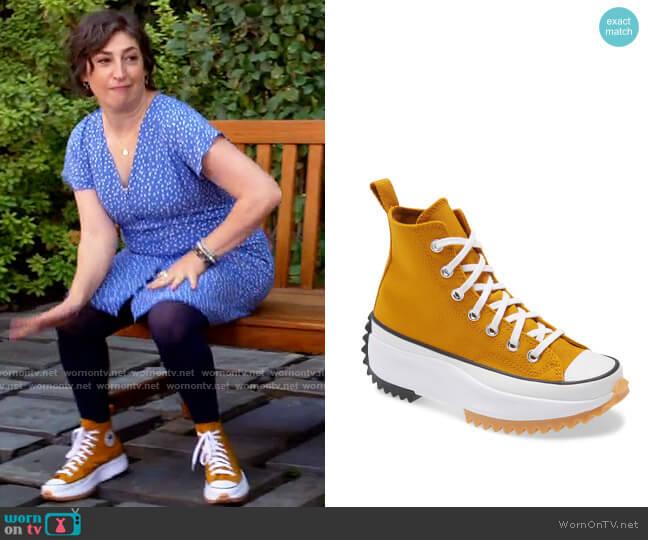 Converse Chuck Taylor® All Star® Run Star Hike High Top Platform Sneaker worn by Kat Silver (Mayim Bialik) on Call Me Kat