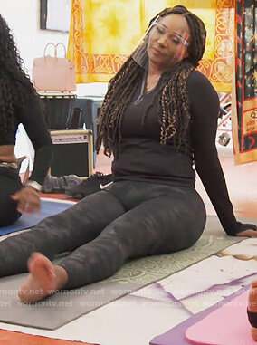 Cynthia's black camo leggings on The Real Housewives of Atlanta