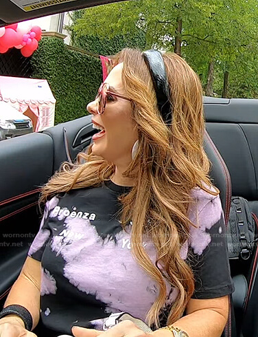 D'Andra's tie dye tee on The Real Housewives of Dallas