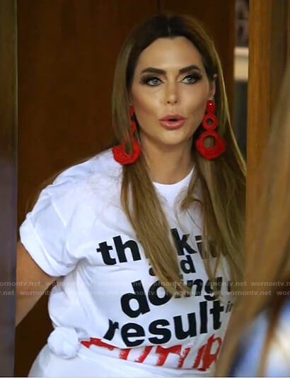D'Andra's Future print tee on The Real Housewives of Dallas