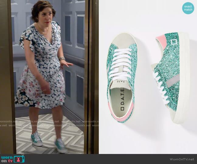 D.A.T.E. Hill Glitter Low-Top Sneakers worn by Kat Silver (Mayim Bialik) on Call Me Kat