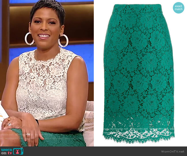 Lace Midi Skirt by Dolce and Gabbana worn by Tamron Hall  on Tamron Hall Show