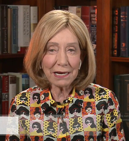Doris Kearns Goodwin's face print shirt on Today