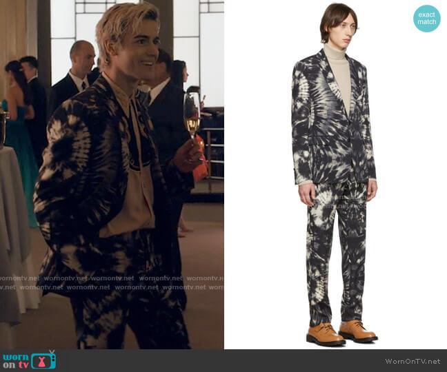 Dries van Noten Tie Dye Suit worn by Shane (Brennan Clost) on Tiny Pretty Things