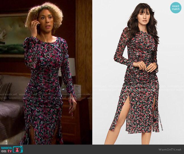 Corinne Mesh Midi Dress by Diane von Furstenberg worn by Victoria Platt on Days of our Lives