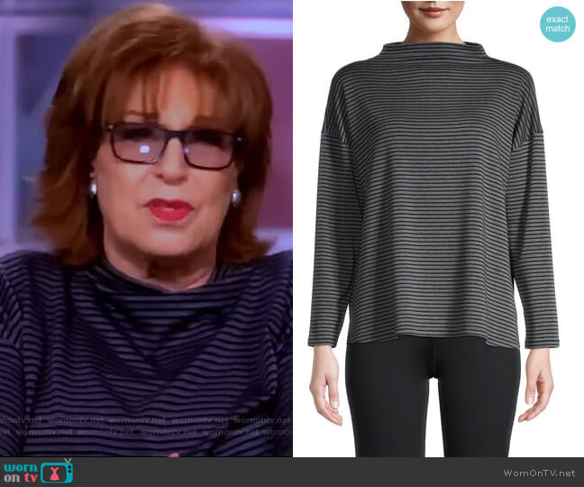 Striped Funnel Neck Top by Eileen Fisher worn by Joy Behar  on The View