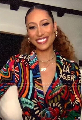 Elaine Welteroth's printed dress on CBS This Morning