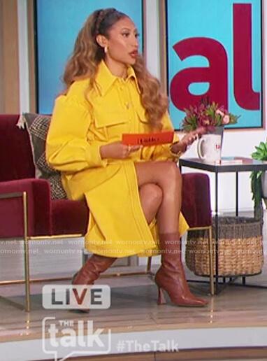 Elaine's yellow coat on The Talk
